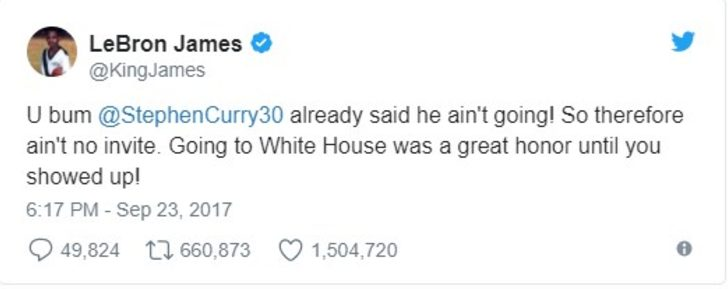 LeBron James'in Trump'a serseri çıkışı