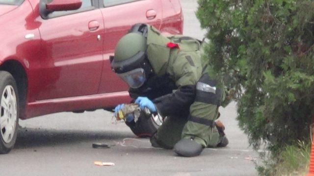 Eşini korkutmak için aracına bomba düzeneği kurmuştu, hakim karşısına çıktı
