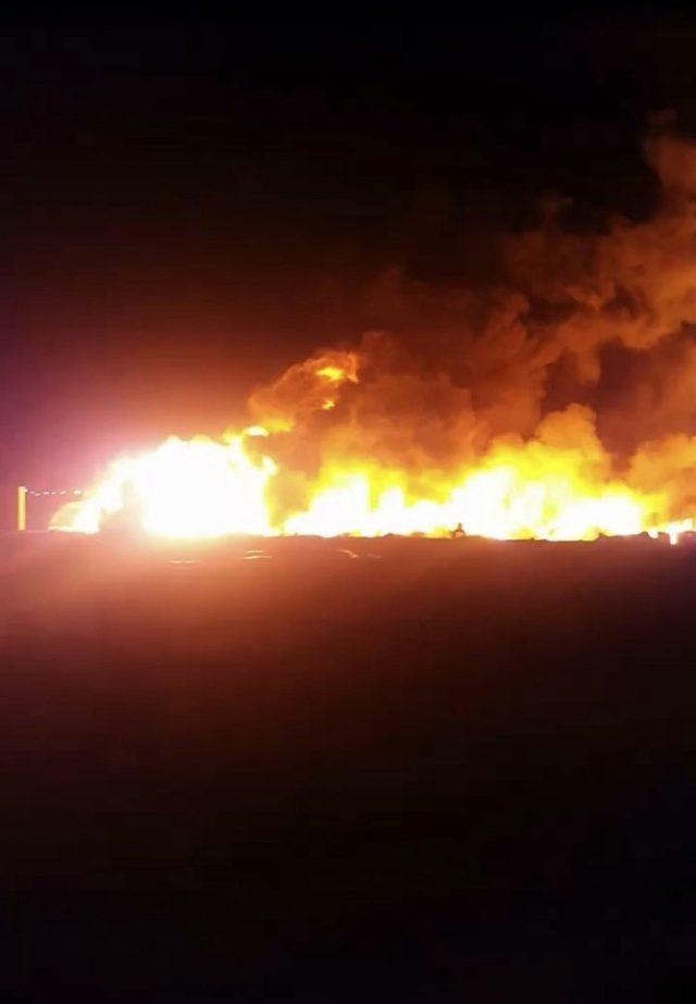 Sakarya'da geri dönüşüm fabrikası alev alev yandı