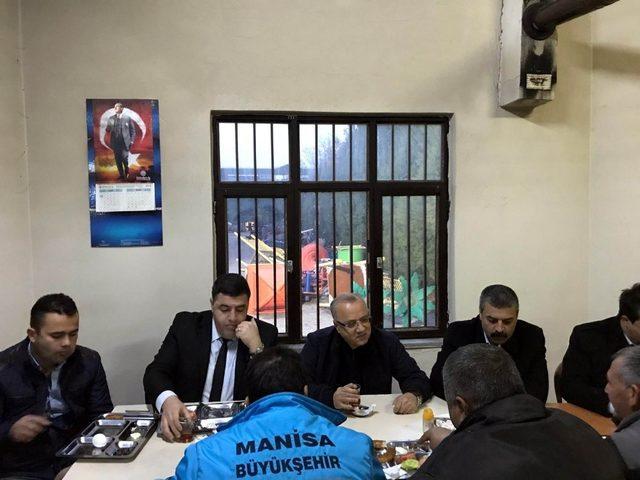 Başkan Kayda'dan kahvaltı sürprizi