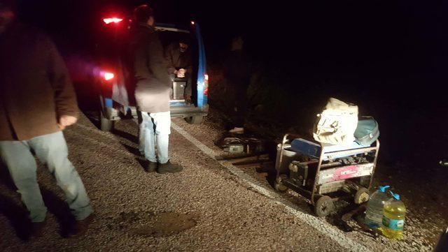 Erdek'te sit alanında kaçak kazıya 8 gözaltı