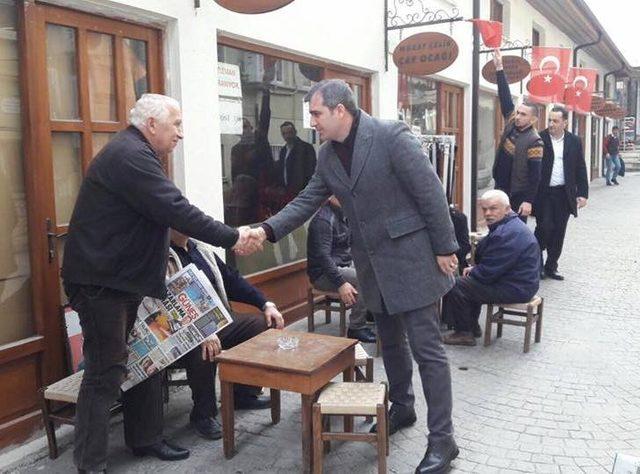 Başkan Yemenici esnafları ziyaret etti