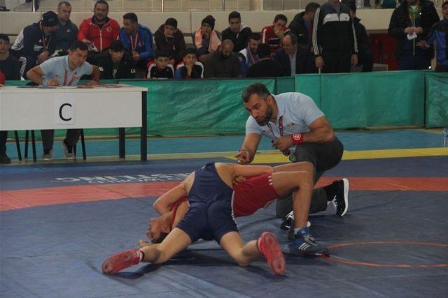 Erzincan'da Güreş grup müsabakaları tamamlandı