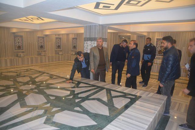 Birecik'te yıldızlı otel konforunda Türk hamamı