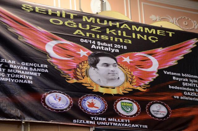 Şehit Muhammed Oğuz Kılınç Türkiye Wushu Şampiyonası başladı