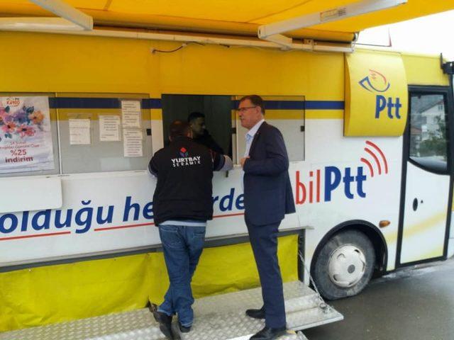 Mobilize PTT Aracı Vezirhan'da hizmete girdi