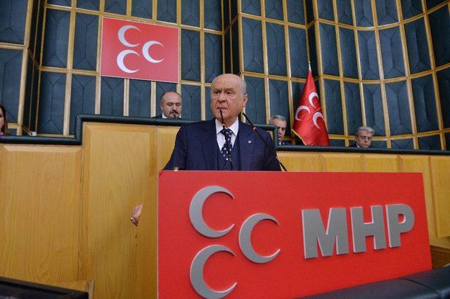 """Devlet Bahçeli: """"Gerekirse ben de Bozkurt gibi ön safta Afrin'e giderim"""""""