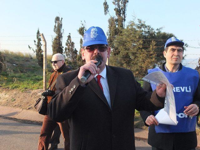 Eti Maden işçisi pirit için yürüdü