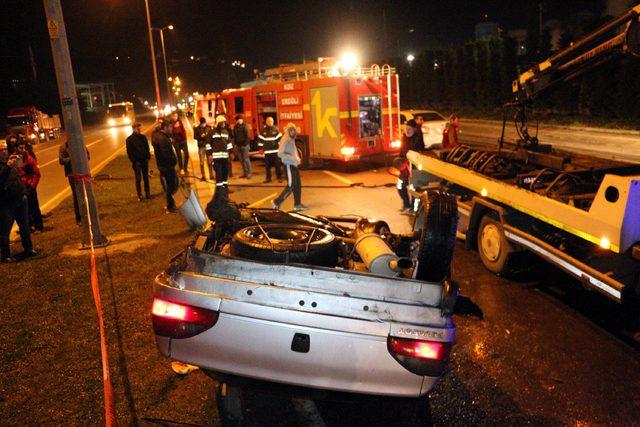 Alkollü arkadaşının yerine kazayı üstlenmeye çalıştı