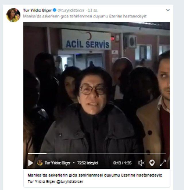 CHP'li Biçer, askerlerin zehirlendiğini sanarak hastaneye koştu