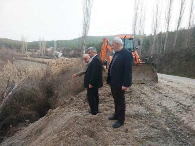 Hisarcık'ta keskin virajlar kaldırılıyor
