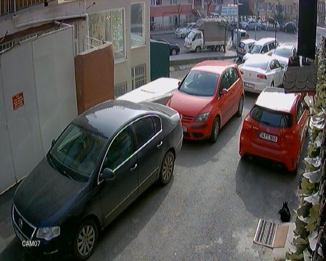 Şişli'de kadın cinayeti güvenlik kamerasında