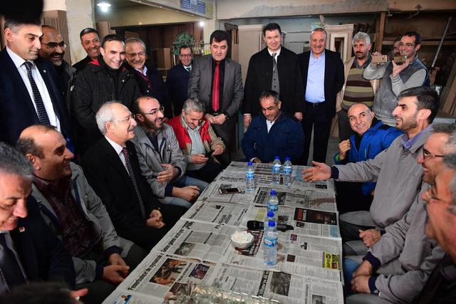 Kılıçdaroğlu'ndan Ankara Sitelerde esnaf ziyareti