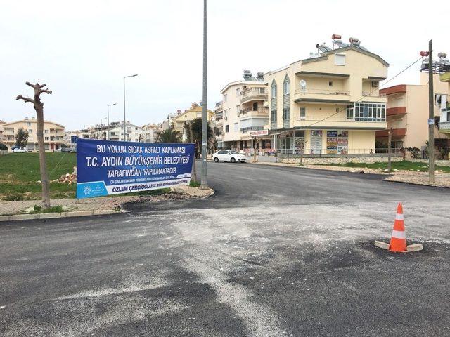 Aydın Büyükşehir Didim'de asfalt çalışmalarını sürdürüyor