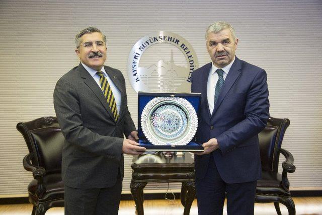 Kültür ve Turizm Bakan Yardımcısı Yayman, Başkan Çelik'i ziyaret etti