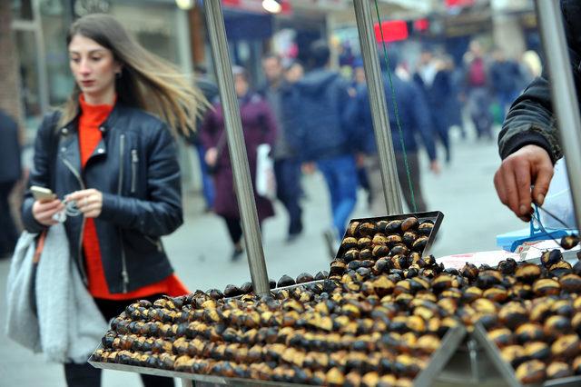 Tezgahlardaki lüks; Kestane kebabın kilosu 75 lira