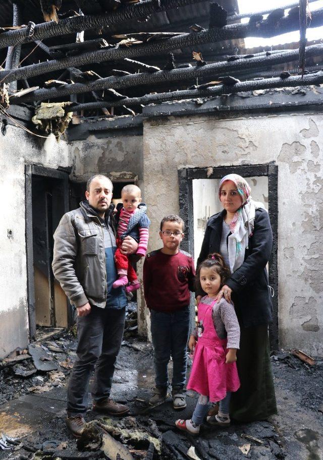 5 nüfuslu Duran ailesi evsiz kaldı