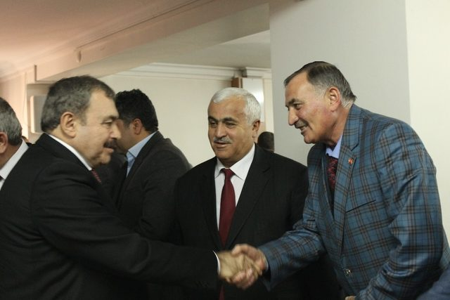 Bakan Eroğlu, Afyonkarahisar'da belediye başkanları ile bir araya geldi