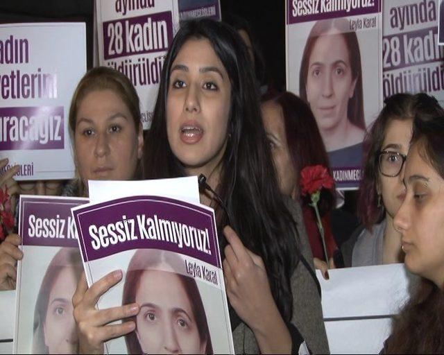 Şişli'de kocası tarafından öldürülen kadın için eylem