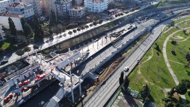 Halkalı-Sirkeci tren hattındaki son durum havadan görüntülendi