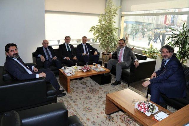Gediz ve Simav belediye başkanlarından Uşak Belediye Başkanı Cahan'a ziyaret