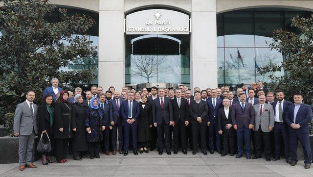 AK Parti İstanbul İl Başkanlığı'nda devir teslim yapıldı.