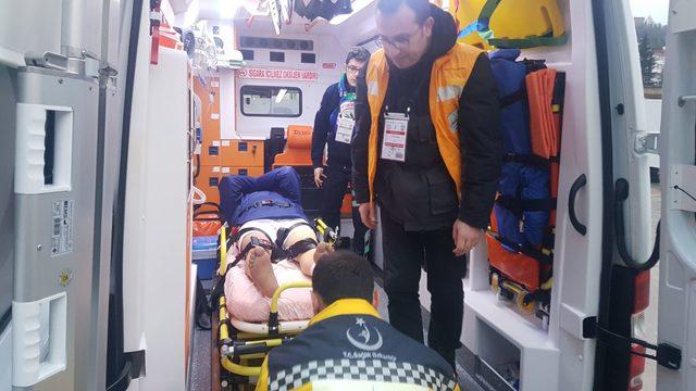 Altınordulu futbolcu hastaneye kaldırıldı