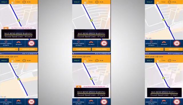 Virajlarda trafik kazalarını önleyecek uygulama