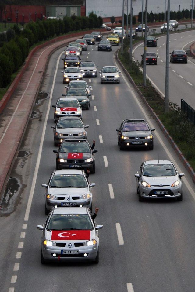 Zeytin Dalı operasyonuna konvoylu, bayraklı destek