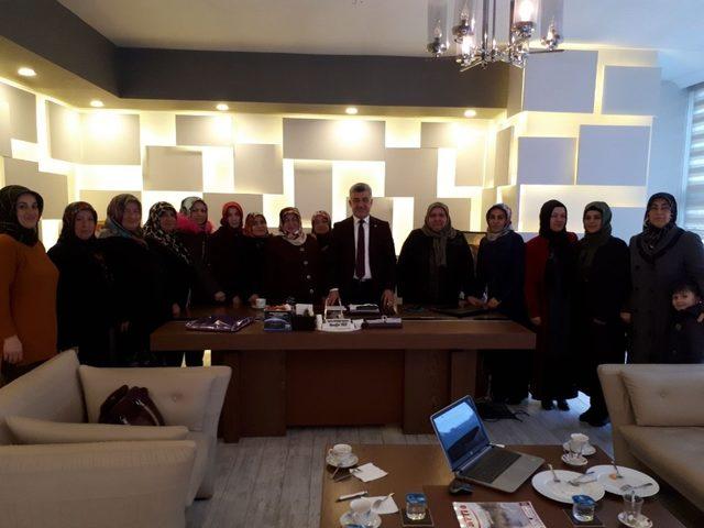 AK Parti Yığılca kadın kollarından Başkan Yiğit'e ziyaret