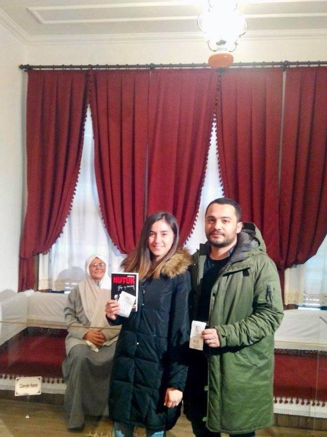 Atatürk Evinde Nutuk hediyesi
