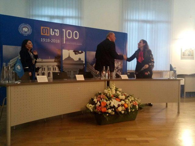 Rektör Çakar, Tiflis Devlet Üniversitesi'nin kuruluş yıldönümü programına katıldı