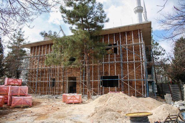 Değirmiçem'deki sosyal tesisin kaba inşaatı tamamlandı