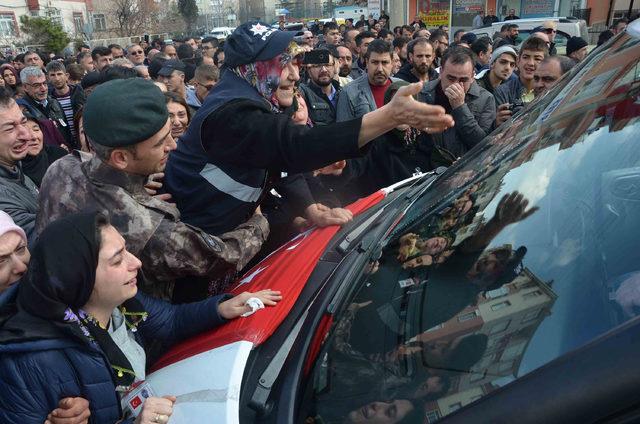Kaza şehidi polis memuru, Konya'da son yolculuğuna uğurlandı