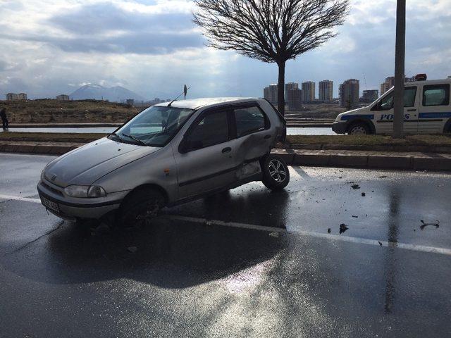 Kayseri'de trafik kazası: 1 yaralı
