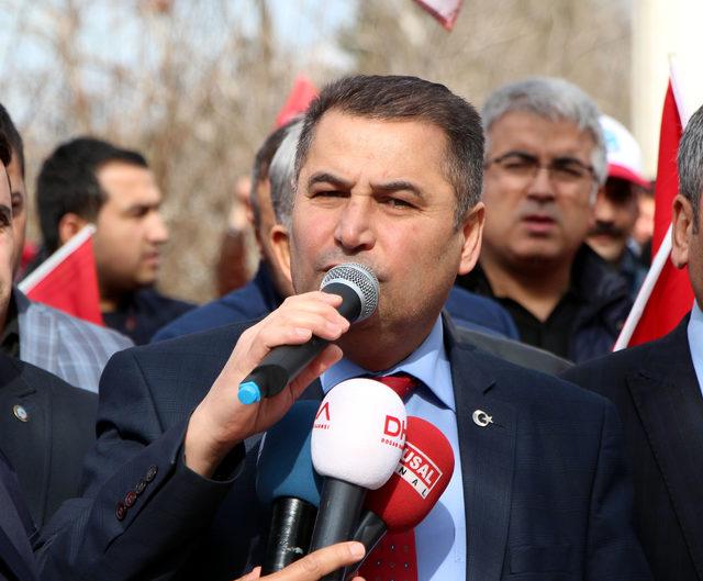 Gaziantep'te sendika üyelerinden Mehmetçik'e dua