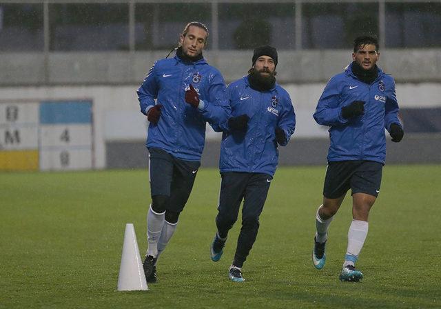 Trabzonspor, Medipol Başakşehir maçı hazırlıklarına 12 eksikle başladı