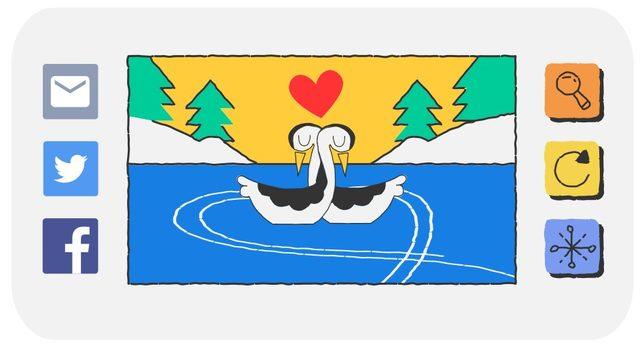 google sevgililer gunu doodle
