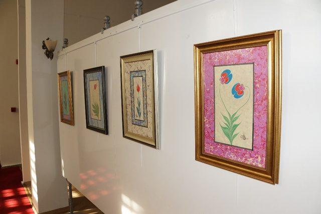 Aydın'da ebru sergisi açıldı