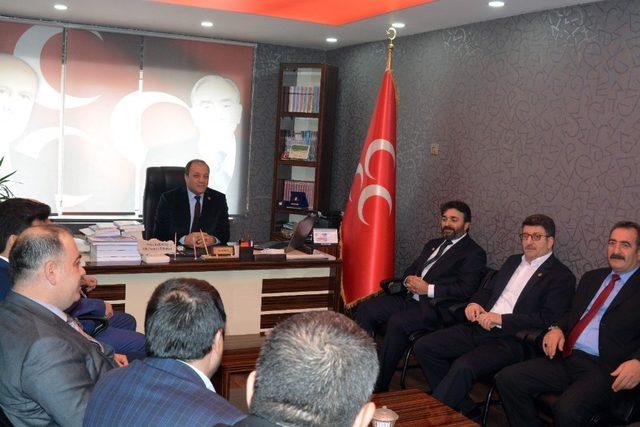 Saadet Partisi İl Başkanı Faik Çalık'ın Ak Parti ve MHP ziyareti