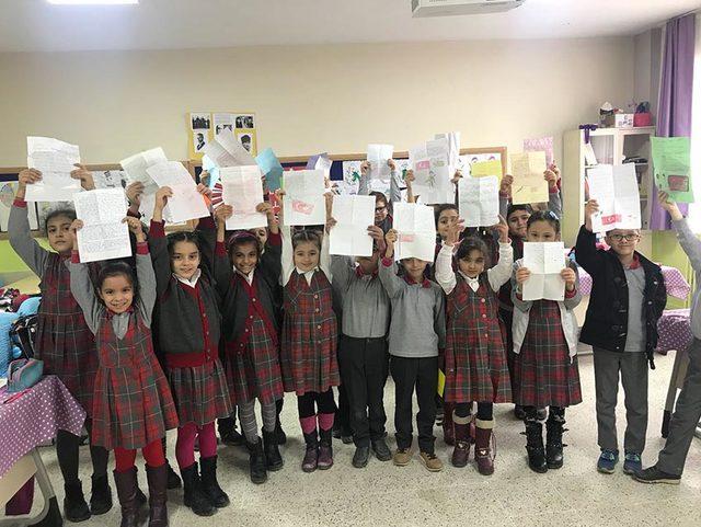 Miniklerden Afrin'deki askerlere duygulandıran mektuplar