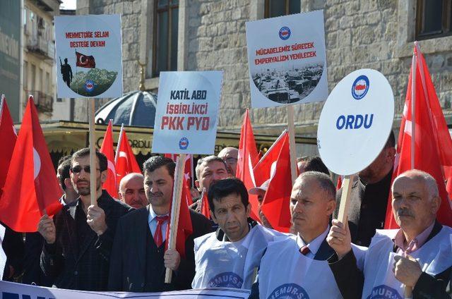 Memur-Sen'den Zeytin Dalı Harekatı'na destek