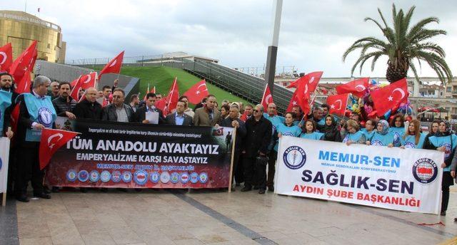 Aydın Memur-Sen'den Mehmetçiğe tam destek