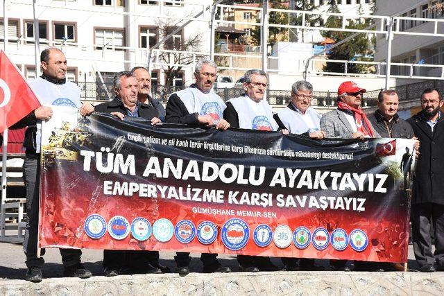 Gümüşhane Memur-Sen'den Afrin harekatına tam destek