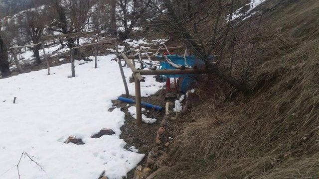 Tunceli'de 4 sığınak imha edildi