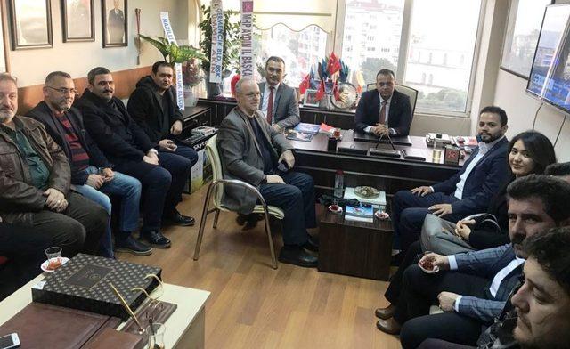 Efeler AK Parti'den MHP'nin yeni atanan İlçe Başkanına hayırlı olsun ziyareti