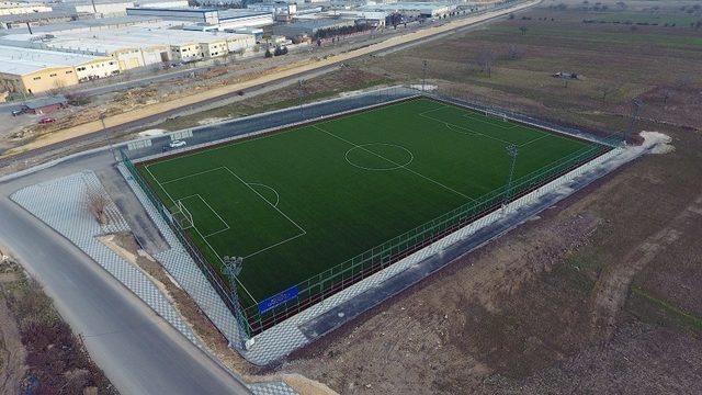 Gaziantep'te FIFA belgeli semt sahası açıldı