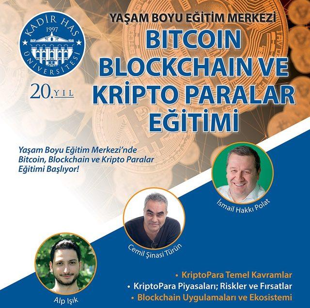 Kadir Has Üniversitesi 'Kripto Paralar' sertifika programı düzenliyor