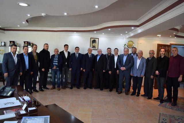 Aliağa oda başkanlarından Esnaf Birliğine ziyaret