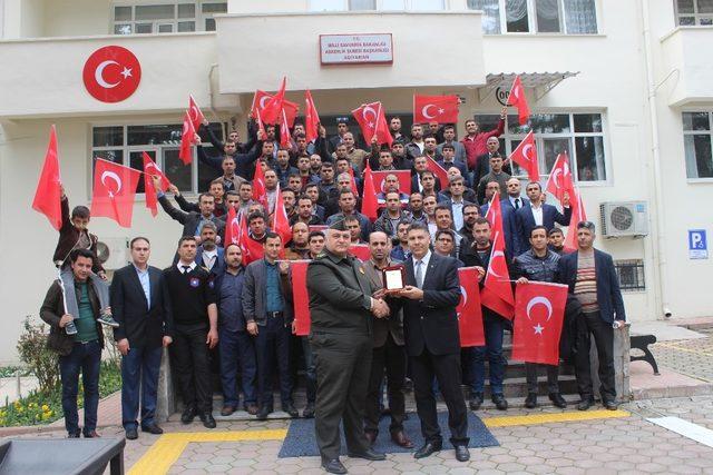 Özel güvenlik görevlileri kahraman Mehmetçik için kurban kesti